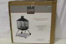 New listing Living Accents Portable Wood Fire Pit - Porcelain/Steel