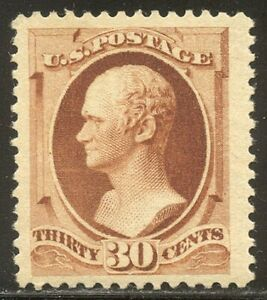 U.S. #217 Mint VF/XF w/Cert - 1888 30c Orange Brown