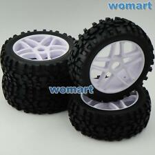 4 Stück 1/8 RC Off Road Buggy Tires Reifen Felge for Losi HPI XTR Badlands Car