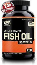 Optimum Nutrition Fish Oil Omega 3 EPA DHA Fischöl  200 Kapseln