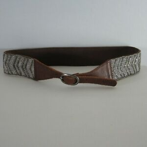 Abercrombie & Fitch Womens X-Small / Small Brown Beaded Bohemian Belt