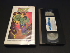 THE INCREDIBLE HULK AUSTRALIAN VHS SUMMIT VIDEO 1982 MARVEL