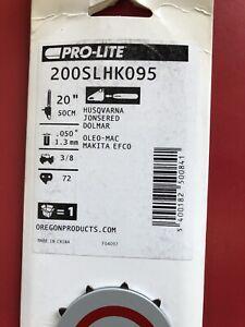 """Oregon 200SLHK095 .050"""" Gauge 3/8"""" Pitch 20"""" Pro-Lite Bar"""