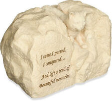AngelStar Rock Urn - Cat Paw Prints With Small Photo Frame