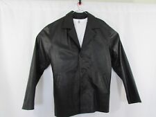 Mens Black Leather Jacket Sz XL Custom Made in Colombia South America