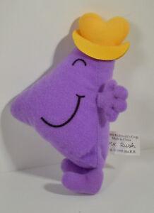 "RARE 1999 Mr Rush Man 4.5"" McDonald's EUROPE Plush Stuffed Figure Little Miss"