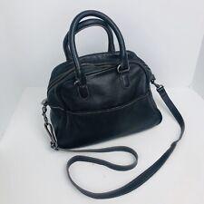 Boden Black Pebbled  Leather Crossbody Satchel Purse Bag Handbag Dr Bag