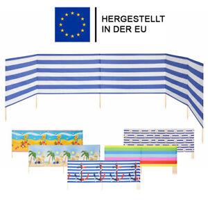 Windschutz Sonnenschutz Sichtschutz für Strand 4,5,6,8,10,12,15m