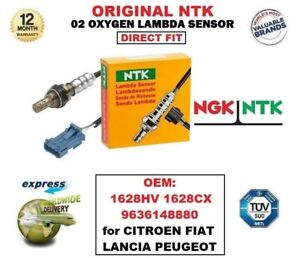 NTK O2 LAMBDA SENSOR EO 1628HV 1628CX 9636148880 for CITROEN FIAT LANCIA PEUGEOT