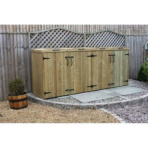 Quad Extra Large Wheelie Bin Tidy Store/Cover/Shed/Storage Unit