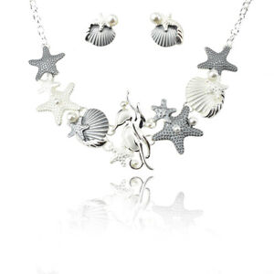 Epoxy Sealife Necklace Set