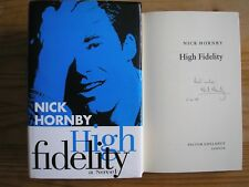 NICK HORNBY - HIGH FIDELITY  1st/1st  HB/DJ  1995  SIGNED, LINED & DATED