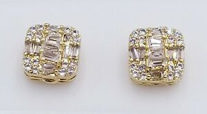 14kt Gold Finish Vvs clarity crystals screw back earrings 4 colors