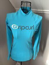 Ripcurl Rip Curl Aqua Blue Long Sleeve Beach Top / Sun guard ~ Sz S 8 ~ Euc
