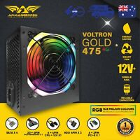 475 Watt PC Computer RGB Power Supply Armaggeddon Voltron Gold Series
