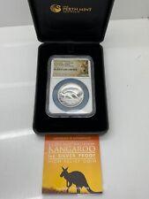 2012 1 oz Proof Silver Australian High Relief Kangaroo Coin .999 Silver #A276