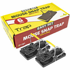 iTrap Easy Set Mouse Snap Trap, Set of 6           Black