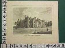1780 DATED ANTIQUE PRINT ~ HILL HALL ESSEX ~ SEAT OF WILLIAM SMYTH
