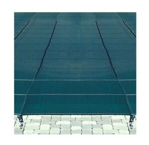 Loop-Loc 166 Green Mesh IG Safety Cover 18' x 36' Rect 4' x 8' Center Step