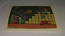 1989 Nintendo Of America How Play Unused video game card Super Mario 2 Fireball