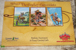 LEANIN TREE Best of Cowboy Cartoonists~20 Different Funny Greeting Cards #90773