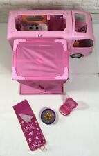 Barbie Pink Glamour Camper RV 2008 Pop Out Tent