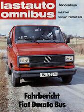 Sonderdruck Fiat Ducato Bus aus Lastauto Omnibus 7/85 1985 Fahrbericht Auto Pkw