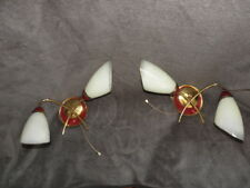 PAIR wall lamp sconce light MID CENTURY MODERN Vintage atomic age retro old