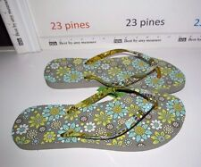 VERA BRADLEY LEMON PARFAIT SANDAL FLIP FLOPS L 9-10 LARGE RETIRED  NWT