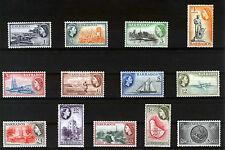 BARBADOS 1953-57 DEFINITIVES SG289/301 MNH