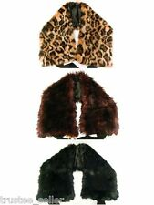 JUICY COUTURE Fashion Vintage Glam Soft Faux Fur Tippets Wrap Shrug Scarf