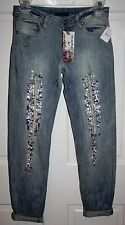 NWT Girls Neiman Marcus Hannah Banana Rollover Jeans Size 12
