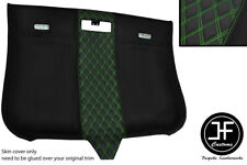 GREEN DIAMOND STITCHING ROOF HEADLINING LUXE SUEDE COVER FOR AUDI TT MK2 06-14