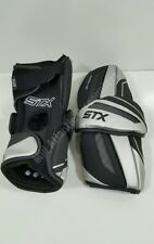 Stx Shadow Lacrosse Arm Guards Pads Xl Extra Large Black Silver Protective Gear