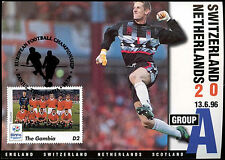 Football Maxicard 1996 Switzerland V Netherlands Handstamped #C26343