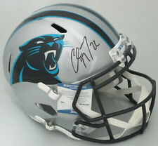 Panthers CHRISTIAN McCAFFREY Signed Full Size Replica Speed Helmet AUTO BCA