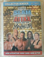 Topps Slam Attack Mayhem Trading card game collectors binder and cards 2008 Comp