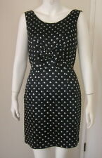 MOSCHINO Cheap and Chic Black & White Big Bow Cocktail Dress Size 8 Italy