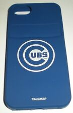Chicago Cubs silicone skin with credit card slot for Apple iPhone 5/5s, Blue Gel