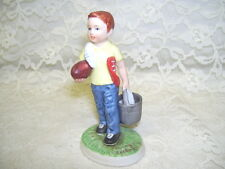 Norman Rockwell Figurine Football Practice 1980