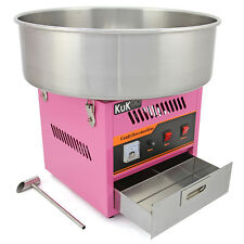 Máquina Algodón de Azúcar Acero Inoxidable Rosa Fiestas Eventos Bol 50cm