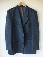 Navy Blue Wool Tweed Jacket Coat Men's suit Slim Fit 40r 42r 44r 46 48 Custom
