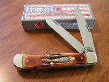 CASE XX New Bone Stag Handle 2 Blade Trapper Knife/Knives