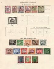 SELANGOR/SARAWAK: 1895-1934 - Ex-Old Time Collection - 2 Sides Page (33143)
