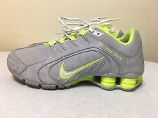 RARE 2013 Nike Shox 356918 -031 Gray Lime Neon Volt Green Womens Shoes SZ 9.5