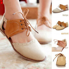 UK Women Flat Ankle Strap Hollow Roma Sandals Round Toe Casual Oxford Pump Shoes