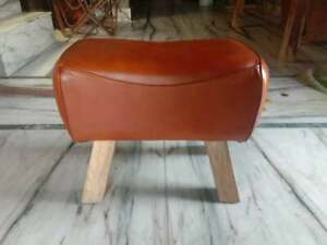 Luxury Foot Stool 100% Handcrafted Genuine Leather/ Premium Quality