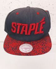 Mens NEW ERA 'STAPLE' MITCHELL & NESS PHILADELPHIA GREY & RED SNAPBACK CAP VGC