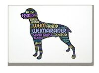 Weimaraner Dog Art Print Word Art A4 A3 Mothers Day Gift Personalised Option