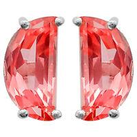 Pink Sapphire Stud Fancy Shape 925 Sterling Silver Earrings Jewelry DGE1015_B